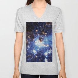 Blue Galaxy Unisex V-Neck