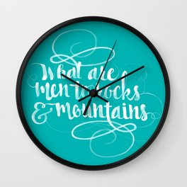Quote from Pride and Prejudice Wall Clock