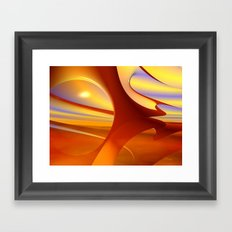 Red Planet Framed Art Print