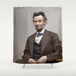 Abraham Lincoln Painting Shower Curtain