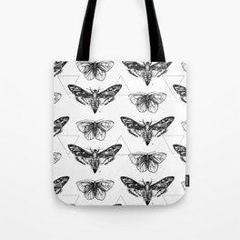 Geometric Moths Tote Bag