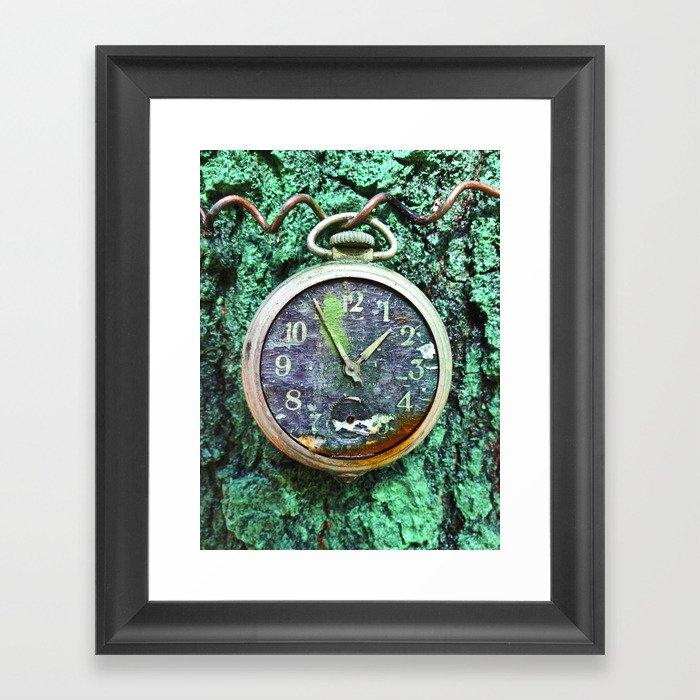 Green Time Framed Art Print
