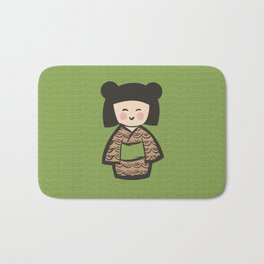 Geisha Dress Code (green) Bath Mat