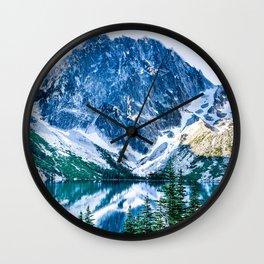 Alpine Lake Wilderness - Lake Colchuck #3 Wall Clock