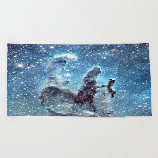 Pillars of Creation Blue Beach Towel