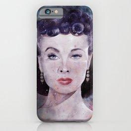 Vivien Leigh as Scarlett O'Hara Watercolor  iPhone Case