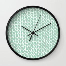 Hand Knit Zoom Mint Wall Clock