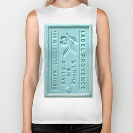 blue french marseille soap Biker Tank