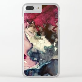Dark Inks - Alcohol Ink Painting Clear iPhone Case