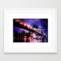 new york Framed Art Prints featuring New York New York by Whimsy Romance & Fun