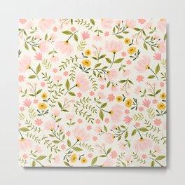 Delicate Spring Floral Light Metal Print