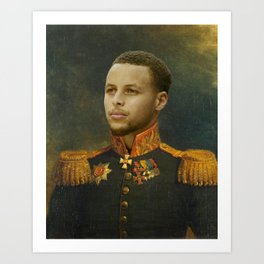 Steph Curry Classical Painting Art Print