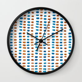 Blue & Orange Vibes Wall Clock