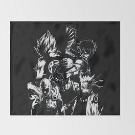 Anime heroes 1 Throw Blanket
