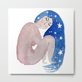 Self care constellation woman Metal Print