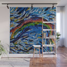 Rainbow Spirit Soar to New Expectations with Goals of Happiness by annmariescreations Wall Mural