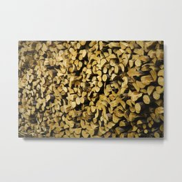 Wood Pile Painterly Metal Print