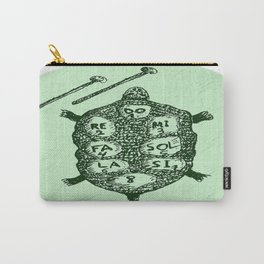 Turtle on Green Carry-All Pouch