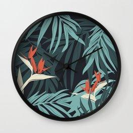 Vector illustration tropical paradise Wall Clock