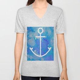 Anchor Symbol Unisex V-Neck