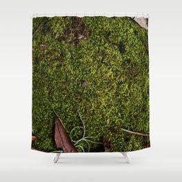 Mossy Plot Shower Curtain