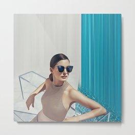 Anne Hathaway - Celebrity (Oil Paint Art) Metal Print