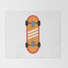 Orange Skateboard Throw Blanket