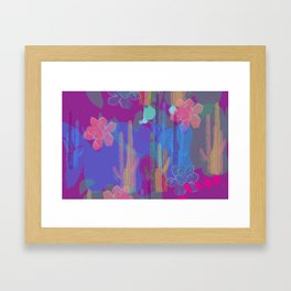 Purple Oasis Framed Art Print