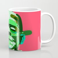 frank Mugs featuring Frank. by Huxley Chin