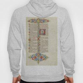 BREVIARIUM Floral Motifs - Medieval Illuminated leaf Hoody