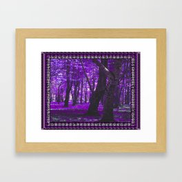 Purple Forest III Framed Art Print