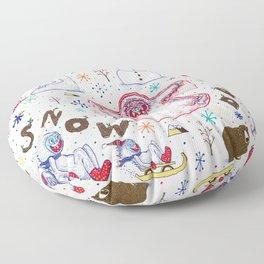 Yeti Snow Day Floor Pillow