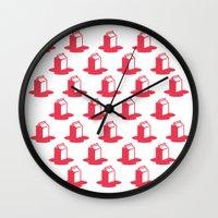 milk Wall Clocks featuring Milk by SMOKIN' HOT MEN