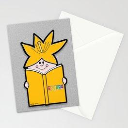 Reading Rainbow in Harmony - Orange Stationery Cards