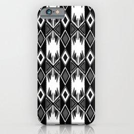 B&W Ikat iPhone Case