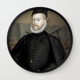 Philip II of Spain in Barcelona Wall Clock
