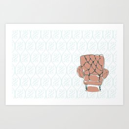 Pink Chair Art Print