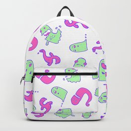 Funky Ghosts and Monster Pattern Backpack