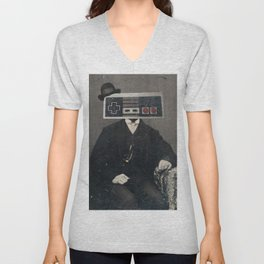 Faces of the Past: Controller Unisex V-Neck
