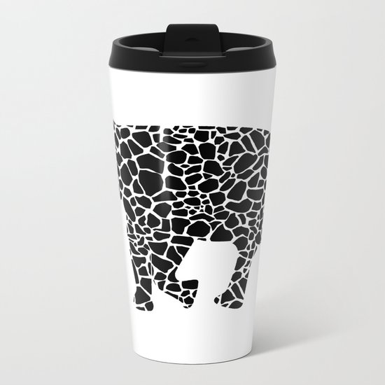 Elephant with giraffe print Metal Travel Mug