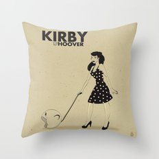 Kirby Hoover Throw Pillow
