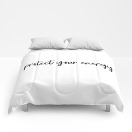 Protect your energy Comforters