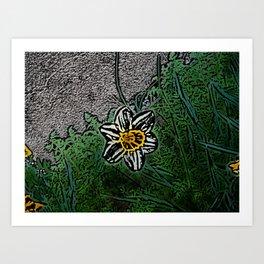 Surreal White Daisy  Art Print
