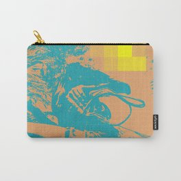 Swim to Me, Underwater Digital Art Teal and Peach Carry-All Pouch