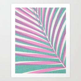 Aqua + Pink Pop Art Palm Art Print