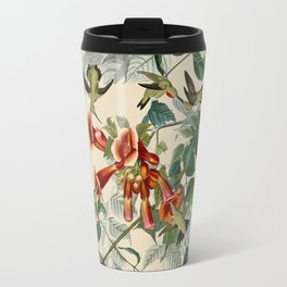 Vintage Hummingbird Illustration - Birds of America Travel Mug