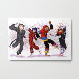 Miraculous Ladybug- PJ Party Metal Print