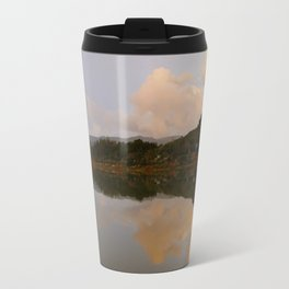 Lake at sunset Travel Mug