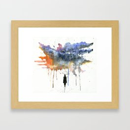Waiting For The Sun. Framed Art Print