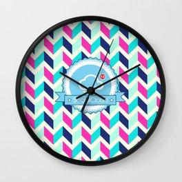 SocialCloud Pattern Wall Clock